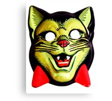 Classic halloween mask CAT Canvas Print