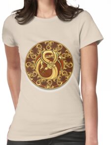 Dragon plate Womens Fitted T-Shirt