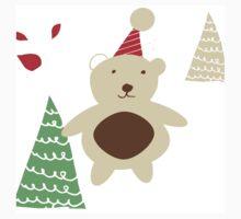 Christmas Bear white One Piece - Short Sleeve