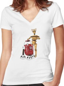 The Bots You're Looking For Women's Fitted V-Neck T-Shirt