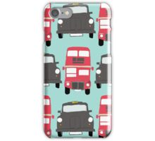 Black Cabs and Red Buses iPhone Case/Skin