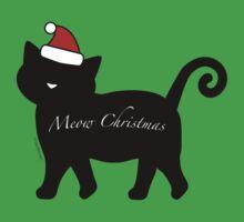 Black Meow Merry Christmas One Piece - Short Sleeve
