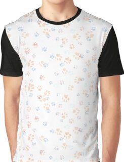 Paw Print Pattern Graphic T-Shirt