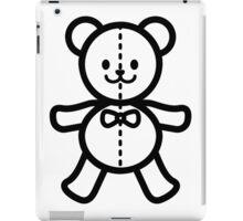 Teddy bear in black and white iPad Case/Skin