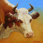 Cow Portrait by Margaret Stockdale