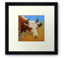 Cow Portrait Framed Print