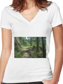 Fairytale Forest - Nature Photography Women's Fitted V-Neck T-Shirt