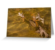 Floating Gold, Honey, Amber and Caramel Greeting Card