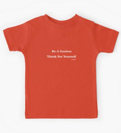 Genius (white writing) Kids Tee