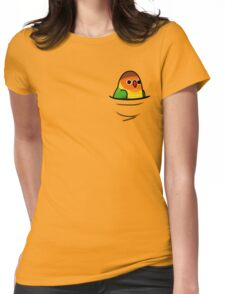Too Many Birds! - Orange n' Green Lovebird Womens Fitted T-Shirt