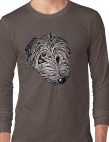 Cheeky lurcher pup Long Sleeve T-Shirt