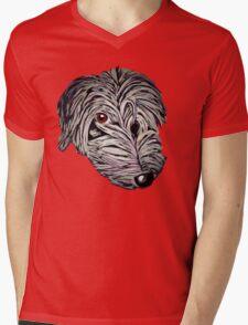 Cheeky lurcher pup Mens V-Neck T-Shirt