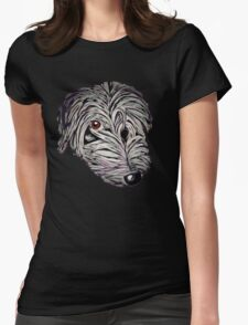 Cheeky lurcher pup Womens Fitted T-Shirt