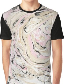 Pink, black and gold marble Graphic T-Shirt