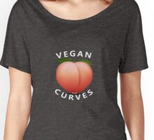 Vegan Curves (Peach Emoji) Women's Relaxed Fit T-Shirt