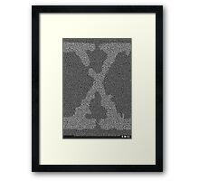 The X-Files Pilot Script - White Framed Print