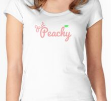 Just Peachy Women's Fitted Scoop T-Shirt