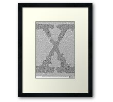 The X-Files Pilot Script - Black Framed Print