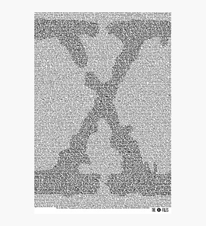 The X-Files Pilot Script - Black Photographic Print