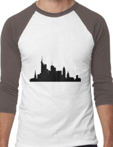 Frankfurt skyline Men's Baseball ¾ T-Shirt