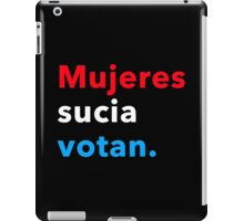 Mujeres sucia votan 2.0 iPad Case/Skin