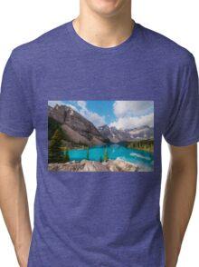 Moraine Lake Banff National Park Tri-blend T-Shirt
