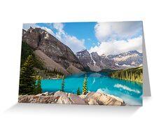 Moraine Lake Banff National Park Greeting Card