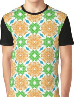 Ethnic green and orange mandalas Graphic T-Shirt