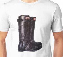 hunter rainboots Unisex T-Shirt