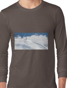 The cross of Monte Catria in winter Long Sleeve T-Shirt
