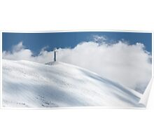 The cross of Monte Catria in winter Poster
