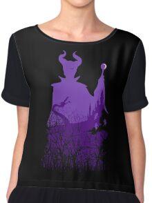 Midnight Maleficent Chiffon Top