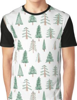 evergreen tree pattern Graphic T-Shirt