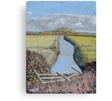 Brent Knoll, Somerset - Sunny Day. Canvas Print