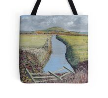 Brent Knoll, Somerset - Sunny Day. Tote Bag