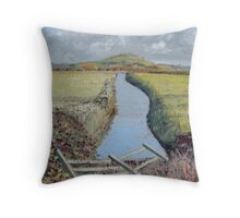 Brent Knoll, Somerset - Sunny Day. Throw Pillow