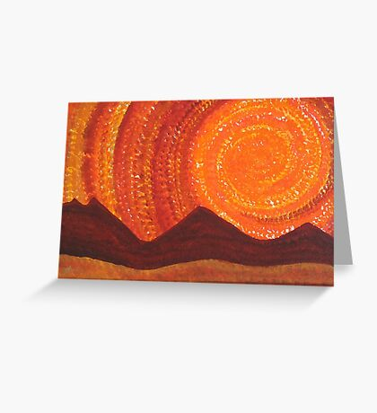 Western Sky Wave original painting Greeting Card