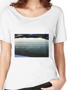 Car window reflection and Bible verse  Women's Relaxed Fit T-Shirt