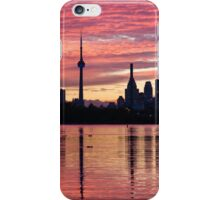 Fiery Sunset - Downtown Toronto Skyline with Sailboats iPhone Case/Skin