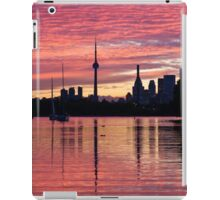 Fiery Sunset - Downtown Toronto Skyline with Sailboats iPad Case/Skin