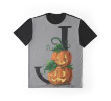 J for Jack-o-lantern Watercolor Painting Graphic T-Shirt