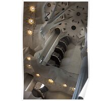 Shapes and Spirals - The Fascinating Interior of Antoni Gaudi's Sagrada Família Poster
