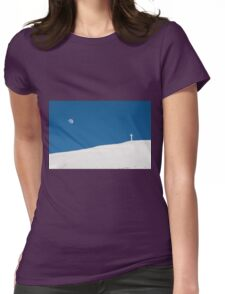 The cross of Monte Catria and the Moon Womens Fitted T-Shirt