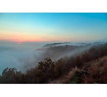 Foggy autumn evening in Val Rosandra Photographic Print