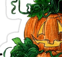 J for Jack-o-lantern Watercolor Shirt and Sticker Sticker