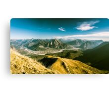 Autumn morning in the alps Canvas Print