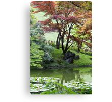 tree on the lake Canvas Print