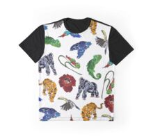 Tropical Forest Pattern Graphic T-Shirt