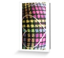 Plaid Bubble Heart Print Greeting Card