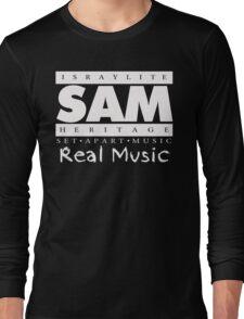 SAM REAL MUSIC  WHITE Long Sleeve T-Shirt